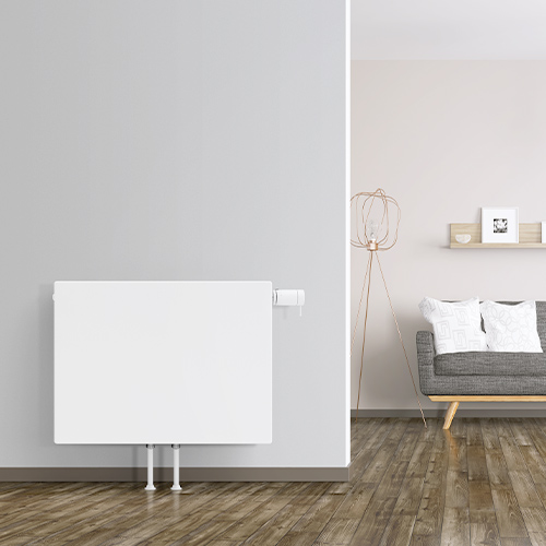 Flachheizkörper passen sich mit modernster Technik in jeden Wohnraum ein